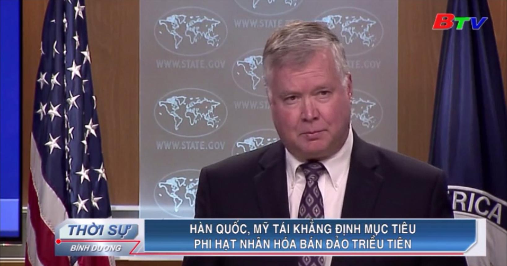 Hàn Quốc, Mỹ tái khẳng định mục tiêu phi hạt nhân hóa bán đảo Triều Tiên
