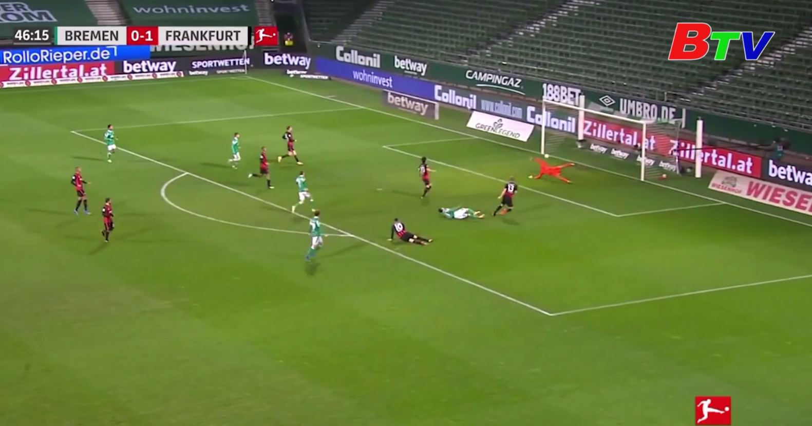 Vòng 23 Bundesliga – Bremen 2-1 Frankfurt