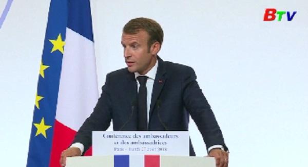 Tổng thống Pháp đề xuất EU không nên tiếp tục lệ thuộc vào Mỹ