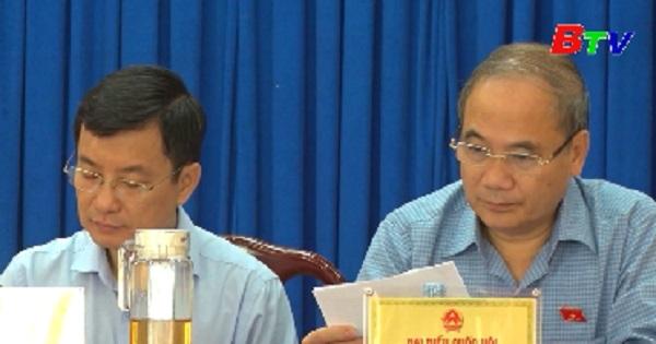 Đại biểu Quốc hội tỉnh Bình Dương tiếp xúc cử tri huyện Dầu Tiếng