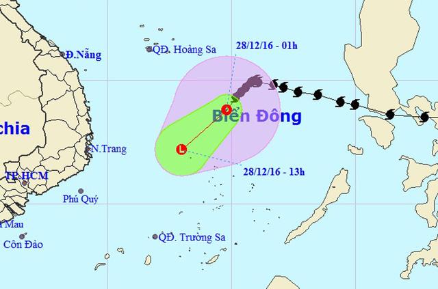 Bão số 10 suy yếu thành áp thấp nhiệt đới