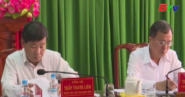 Đoàn công tác Tỉnh Ủy Bình Dương làm việc với thị ủy Tân Uyên