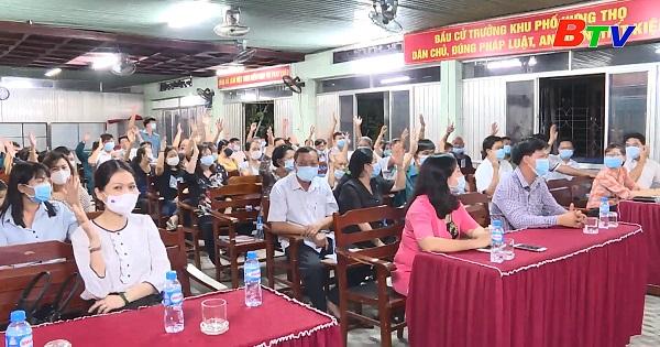 Phường Hưng Định tổ chức hội nghị lấy ý kiến nhận xét và tín nhiệm của cử tri nơi cứ trú