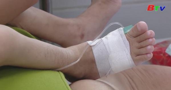 Nhiều trẻ nhập viện do mắc tay chân miệng