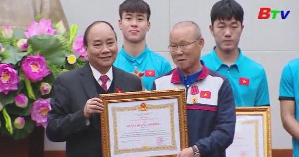 Thủ tướng Nguyễn Xuân Phúc tiếp đội tuyển U23 Việt Nam
