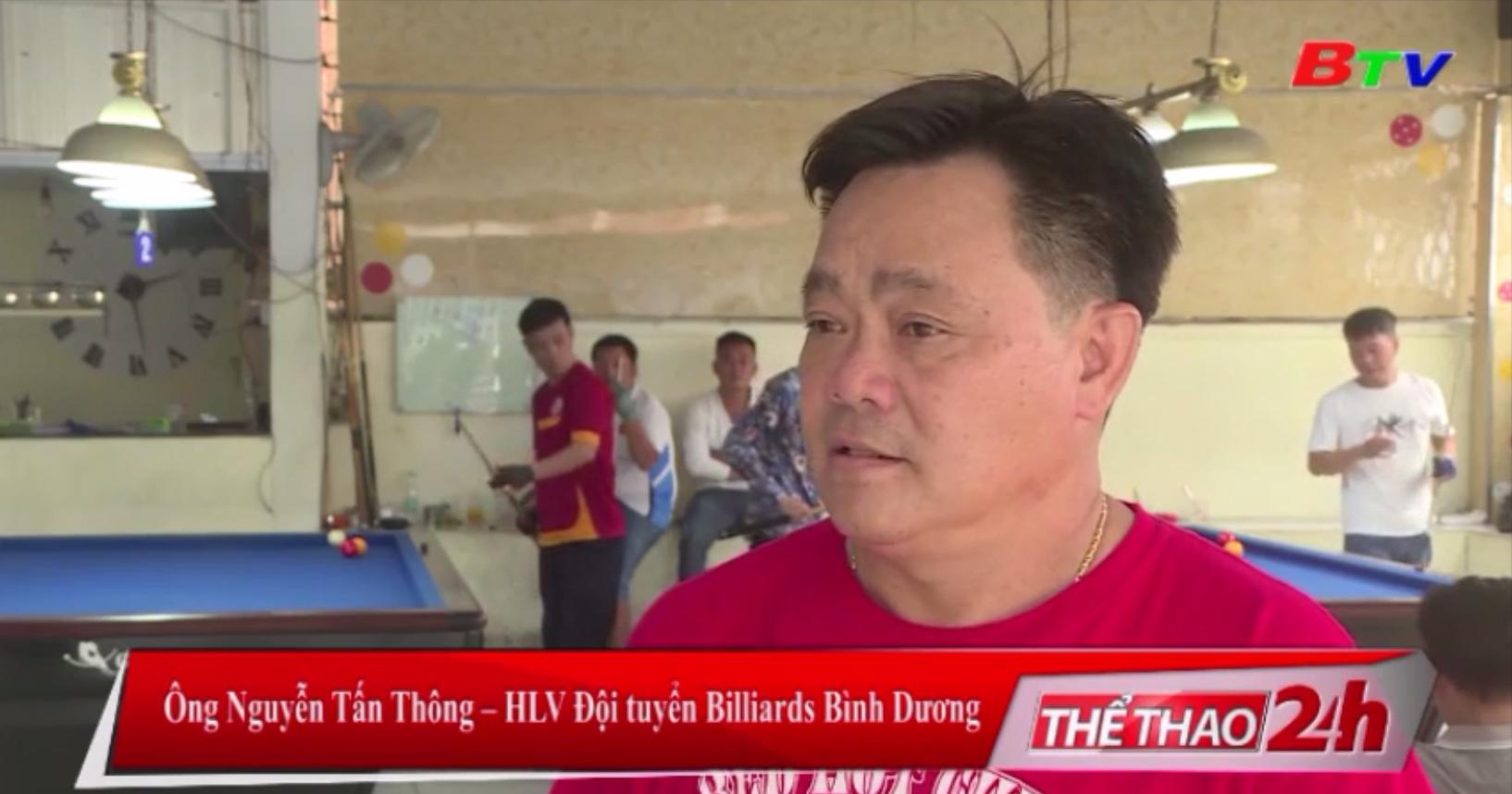 Tuyển Billiards Bình Dương chuẩn bị Vòng 1 Giải VĐQG năm 2020