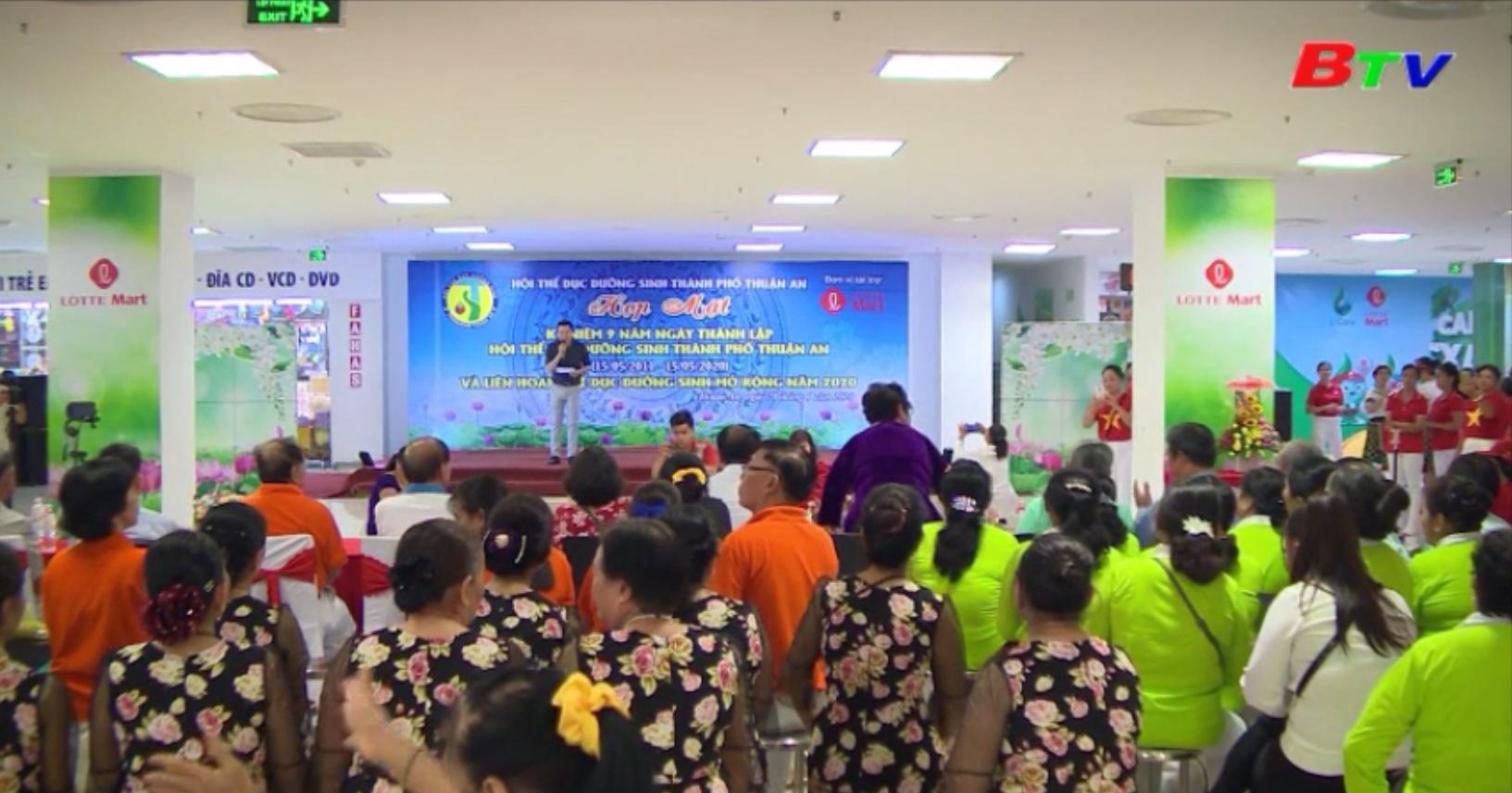 Hội Thể dục dưỡng sinh thành phố Thuận An kỷ niệm 9 năm ngày thành lập