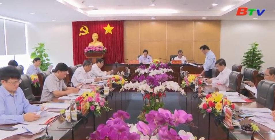 Bí thư Trung ương Đảng, Trưởng Ban Tổ chức Trung ương làm việc với Ban Thường vụ Tỉnh ủy Bình Dương