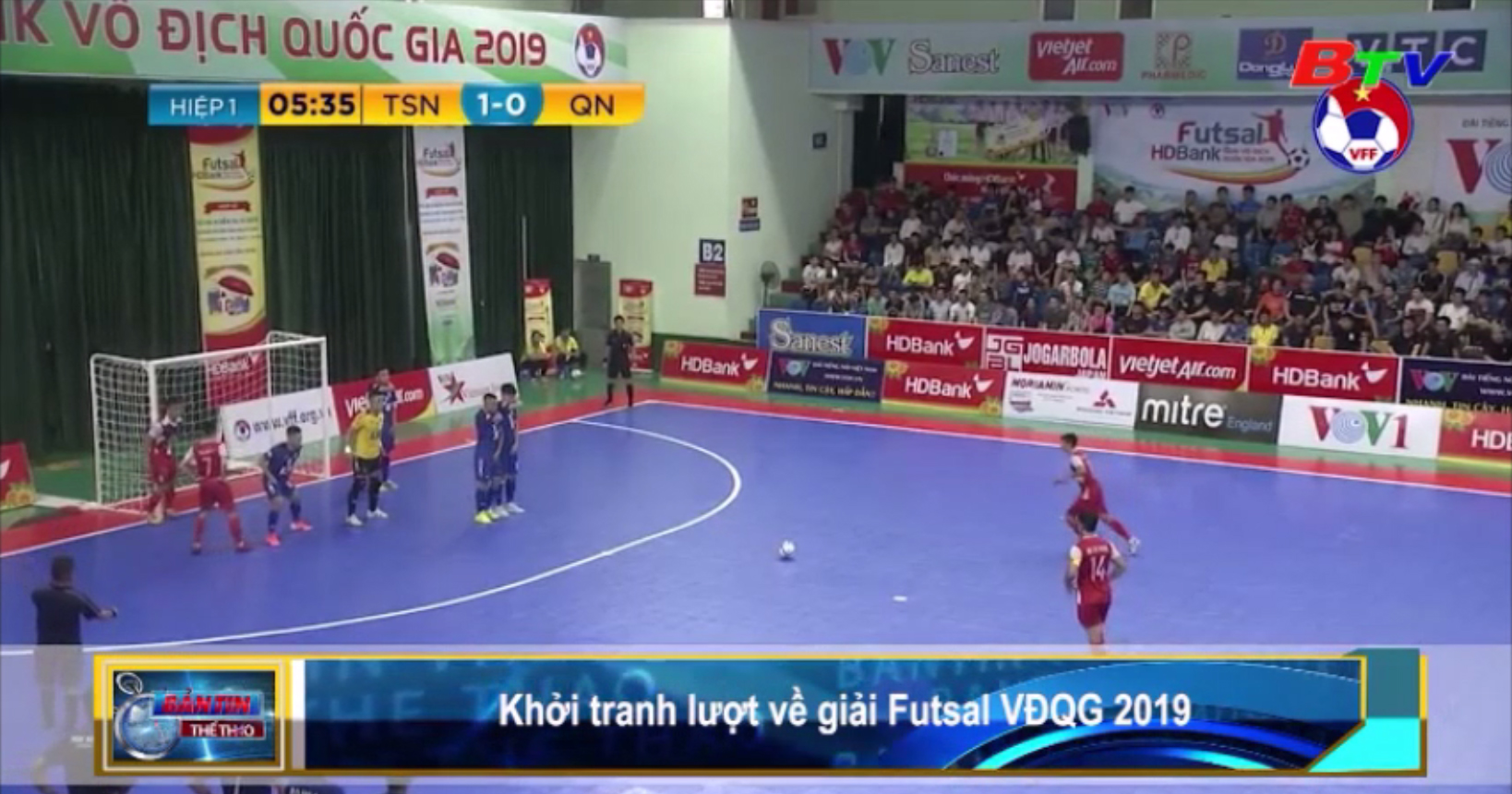 Khởi tranh lượt về Giải Futsal VĐQG 2019