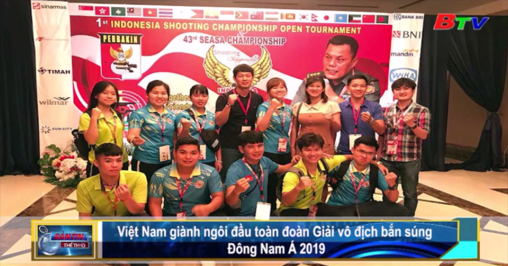 Việt Nam giành ngôi đầu toàn đoàn Giải vô địch bắn súng Đông Nam Á 2019