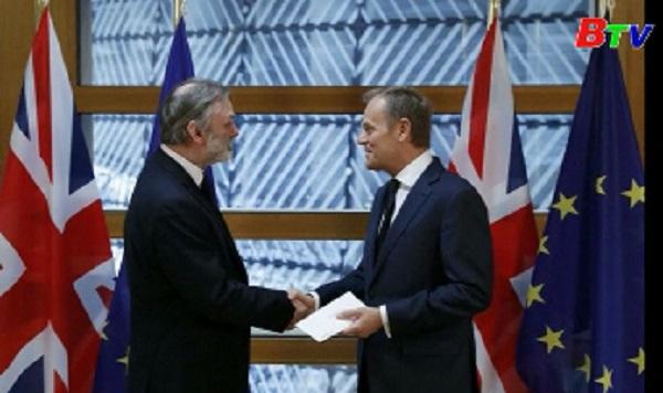EU ra tuyên bố sau khi Anh kích hoạt điều 50 hiệp ước Lisbon