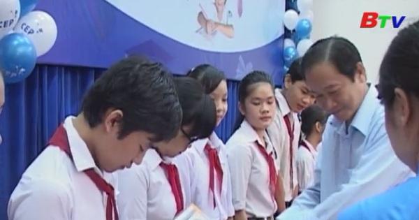 118 suất học bổng CEP cho học sinh vượt khó hiếu học