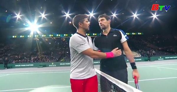 Kết quả Vòng 1 Giải Quần vợt Paris Masters 2018