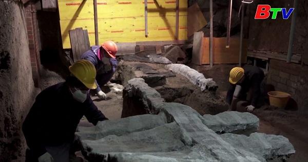 Cổ xe nghi lễ cổ đại được khai quật ở Pompeli , Italy