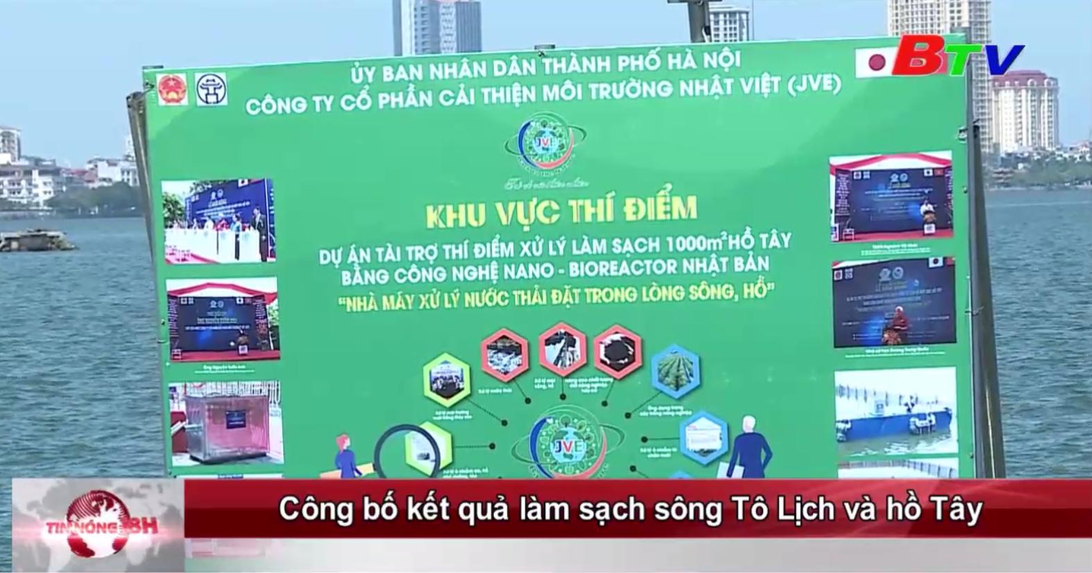 Công bố kết quả làm sạch sông Tô Lịch và hồ Tây