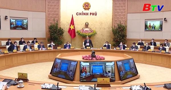 Chính phủ họp phiên thường kỳ tháng 2/2021