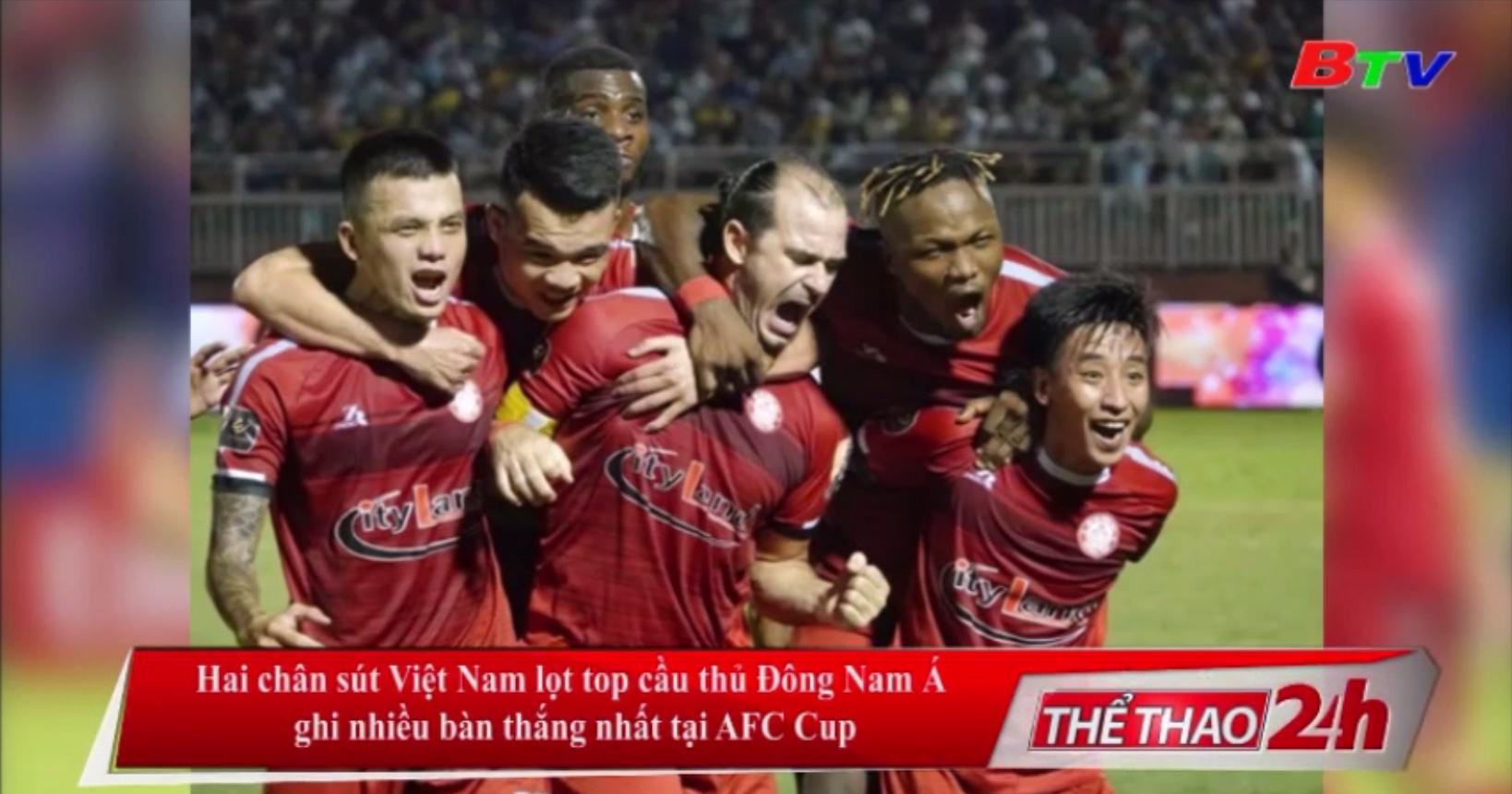 Hai chân sút Việt Nam lọt top cầu thủ Đông Nam Á ghi nhiều bàn thắng nhất tại AFC Cup