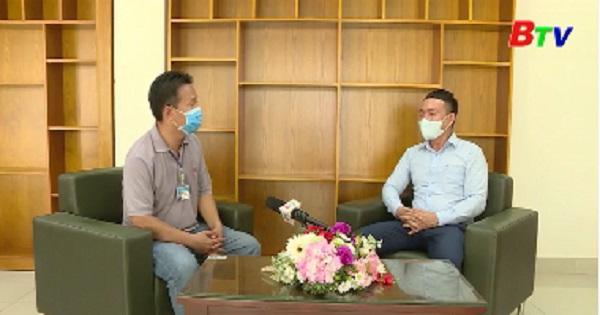 Cuộc phỏng vấn giữa phóng viên BTV với lãnh đạo LĐLĐ tỉnh Bình Dương về chính sách hỗ trợ người lao động