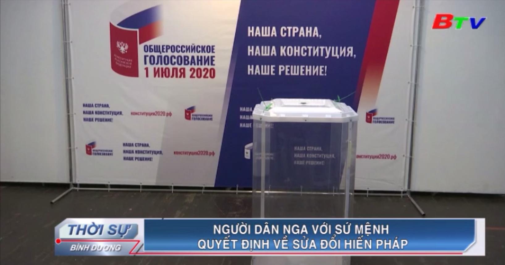 Người dân Nga với sứ mệnh quyết định về sửa đổi Hiến pháp