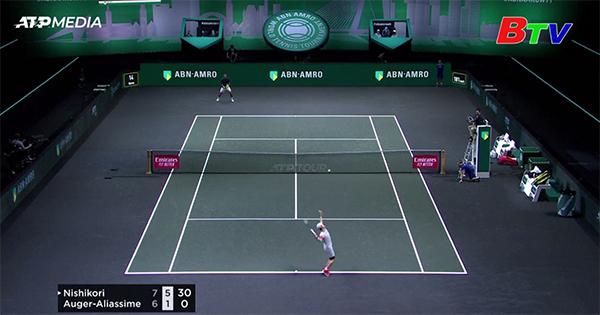 Kei Nishikori giành quyền vào Vòng 2 Giải quần vợt Rotterdam mở rộng