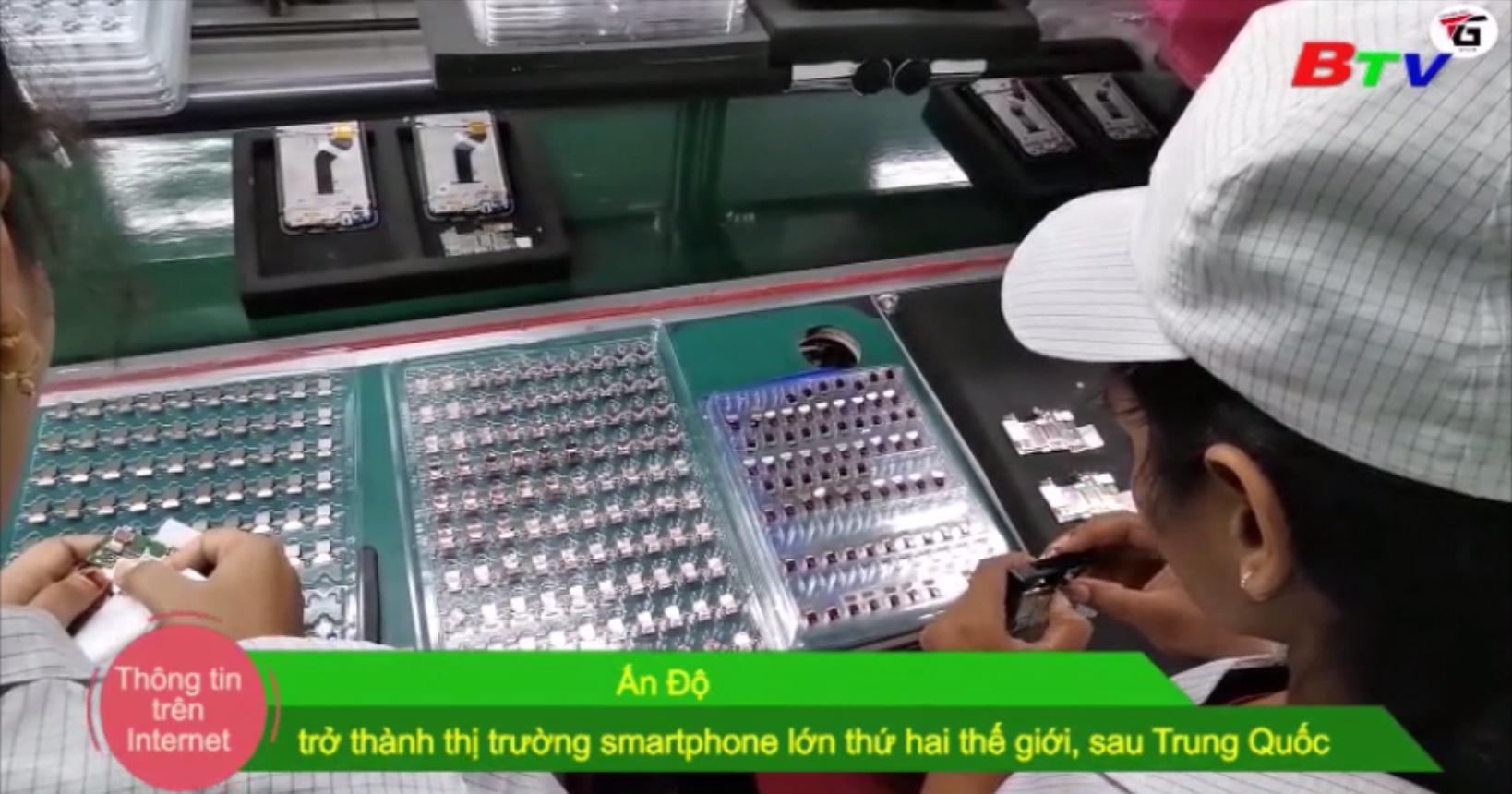 Ấn Độ trở thành thị trường smartphone lớn thứ 2 thế giới, sau Trung Quốc