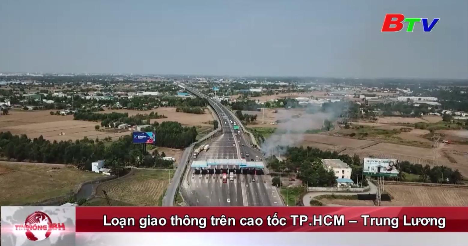 Loạn giao thông trên cao tốc TP.HCM - Trung Lương