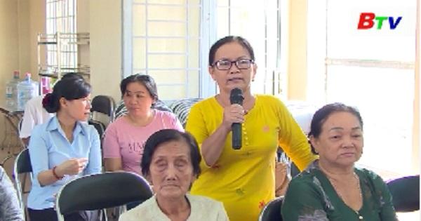 Đại biểu HĐND tỉnh, thành phố Thuận An tiếp xúc cử tri xã An Sơn
