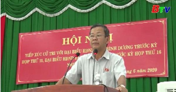Đại biểu HĐND tỉnh, huyện Bàu Bàng tiếp xúc cử tri tại thị trấn Lai Uyên