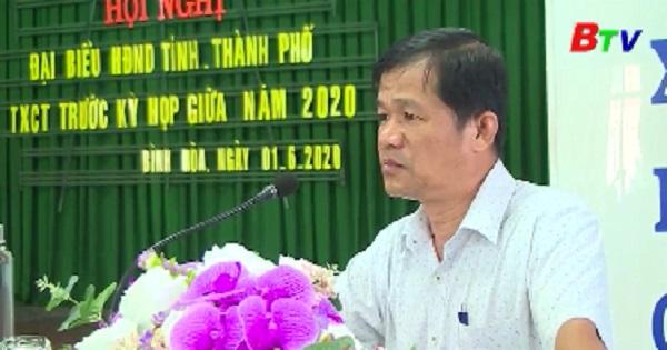 Đại biểu HĐND tỉnh, thành phố Thuận An tiếp xúc cử tri phường Bình Hòa