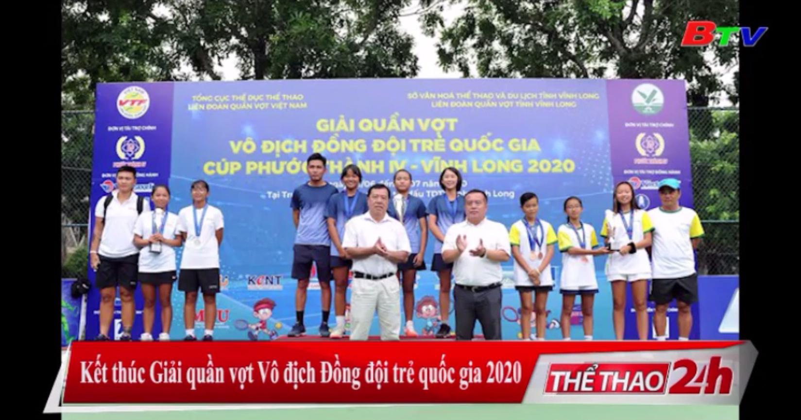 Kết thúc Giải quần vợt vô địch đồng đội trẻ Quốc gia 2020