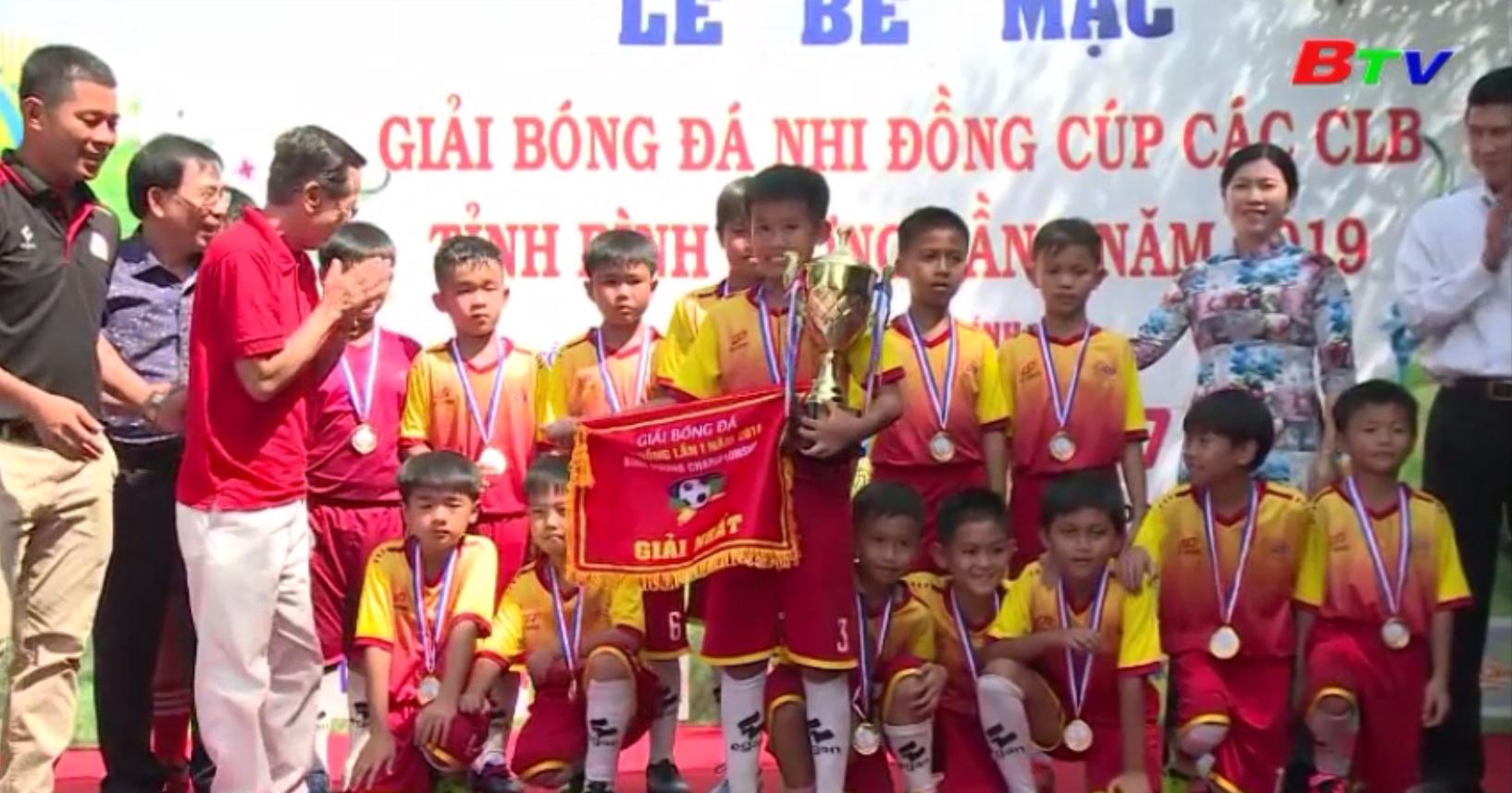 Tổng kết Giải bóng đá Nhi đồng tỉnh Bình Dương lần I năm 2019