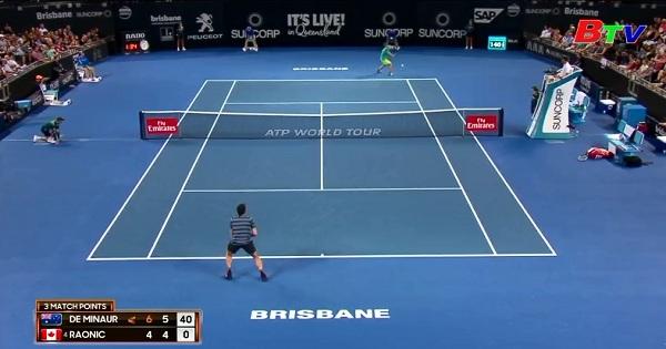Kết quả vòng 2 Giải quần vợt quốc tế Brisbane 2018