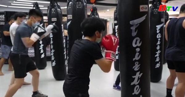 Đeo khẩu trang khi luyện võ ở Đài Bắc, Đài Loan - Trung Quốc
