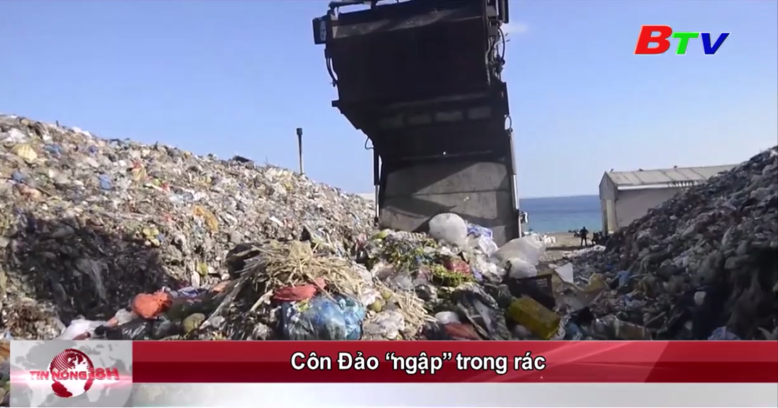 """Côn Đảo """"ngập"""" trong rác"""