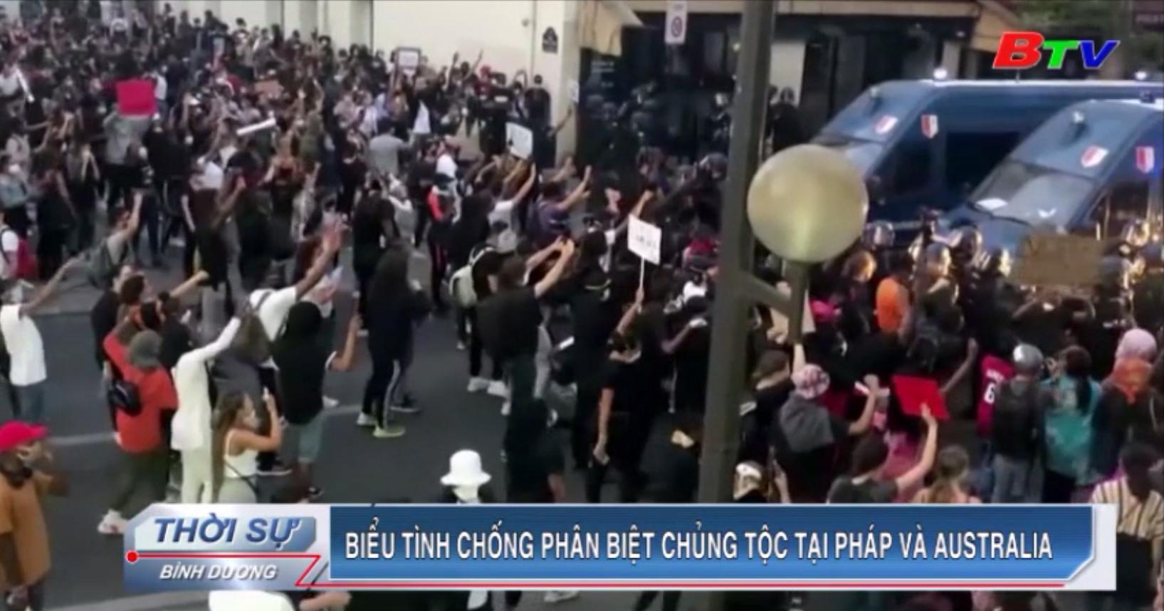 Biểu tình chống phân biệt chủng tộc tại Pháp và Australia