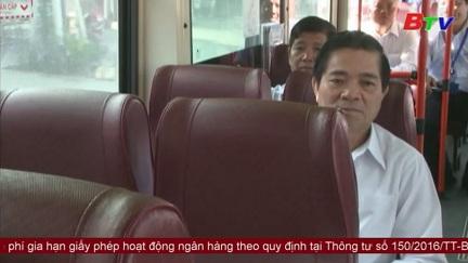 Xe buýt Becamex Tokyu phục vụ yêu cầu phát triển đô thị Bình Dương văn minh, hiện đại