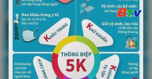 Thực hiện thông điệp 5K trong trường học