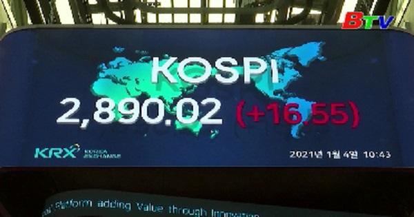 Chứng khoán Hàn Quốc vượt mốc 2.900 điểm