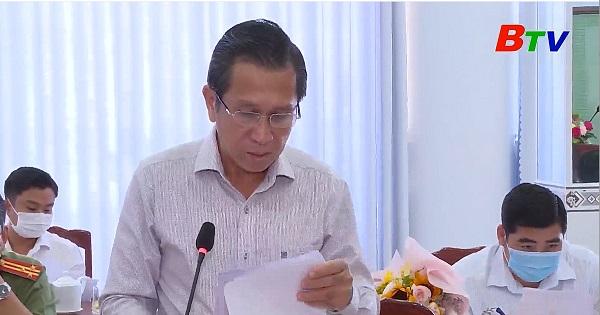 Tỉnh ủy làm việc tại huyện Dầu Tiếng