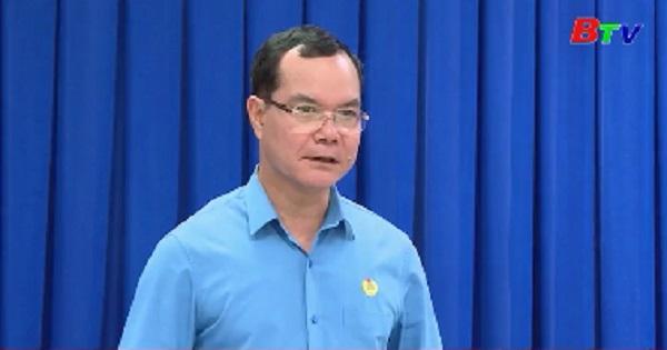 Bí thư Tỉnh ủy tiếp và làm việc với Đoàn Chủ tịch Tổng Liên đoàn Lao động Việt Nam