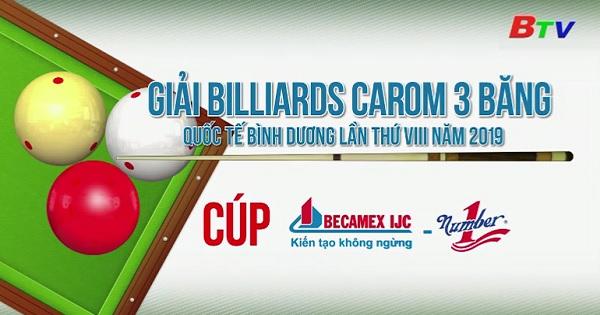 Giải Billiards Carom 3 băng Quốc tế Bình Dương lần VIII/2019 - Cúp