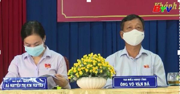 Đại biểu HĐND tỉnh Bình Dương, Tx.Tân Uyên tiếp xúc cử tri phường Khánh Bình