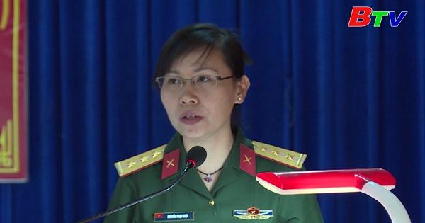 Chủ tịch Hội phụ nữ quân đội làm theo lời Bác