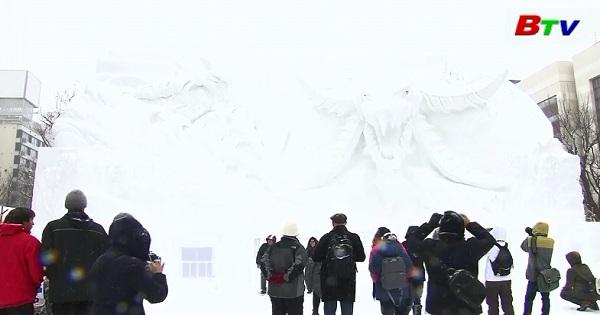 Lễ hội băng tuyết Sapporo khai màn tại Nhật Bản