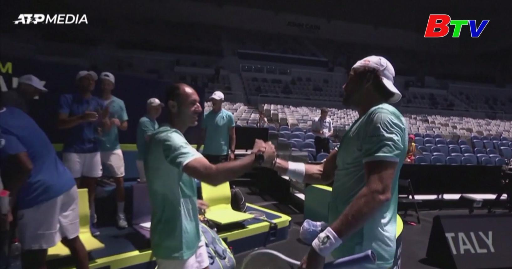 Tuyển Italia vào bán kết Giải quần vợt ATP Cup 2021