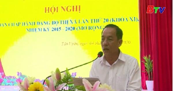 Hội nghị Ban Chấp hành Đảng bộ Thị xã Tân Uyên lần thứ 20 khóa XI nhiệm kỳ 2015-2020 (Mở rộng)