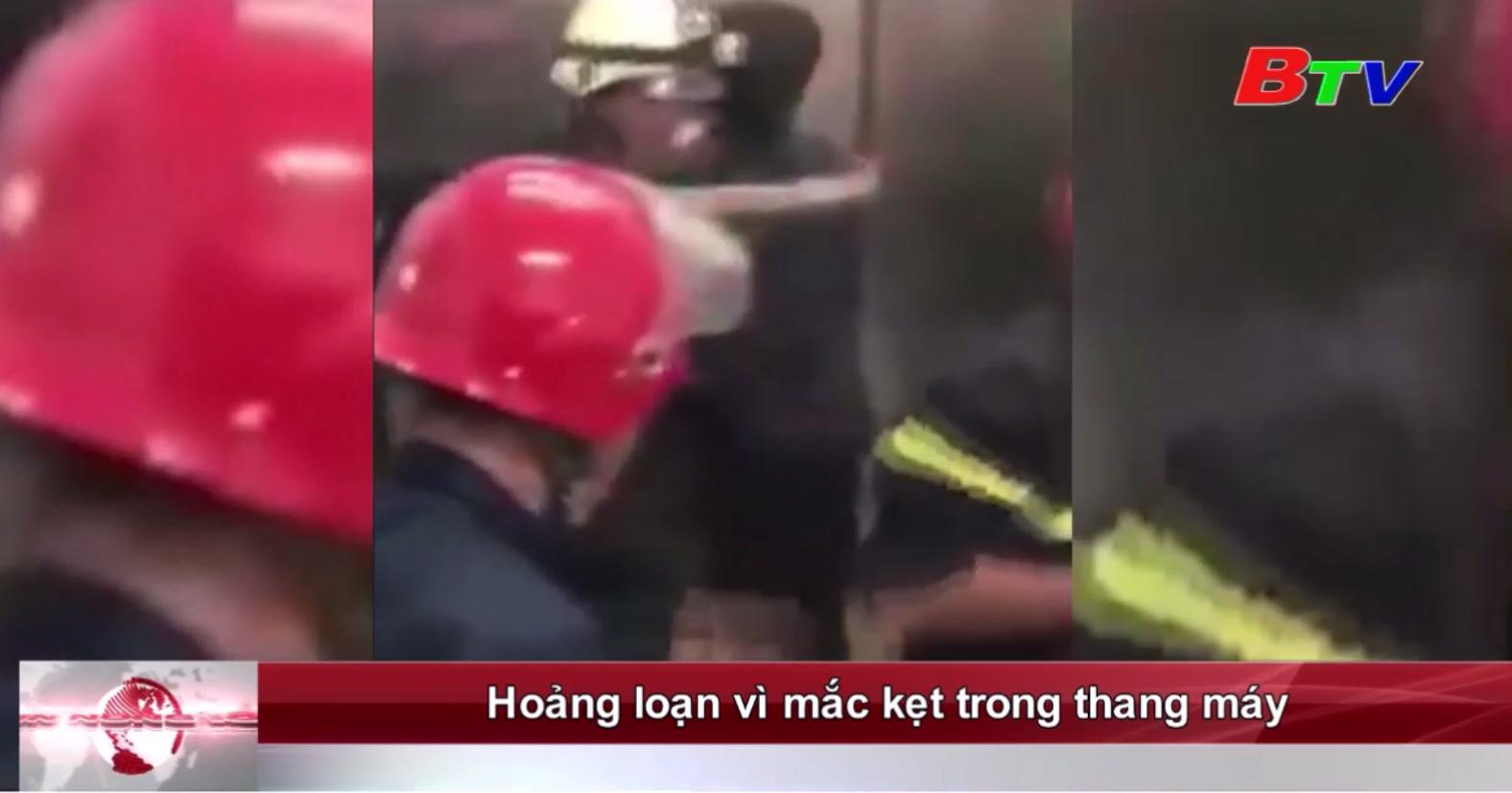 Hoảng loạn vì mắc kẹt trong thang máy