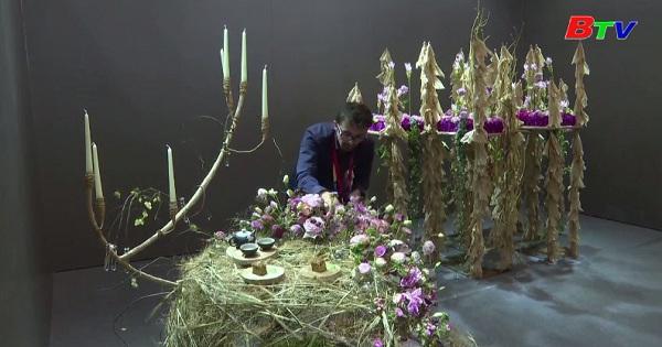 Các tác phẩm nổi bật trong cuộc thi nghệ thuật cắm hoa  thế giới 2019