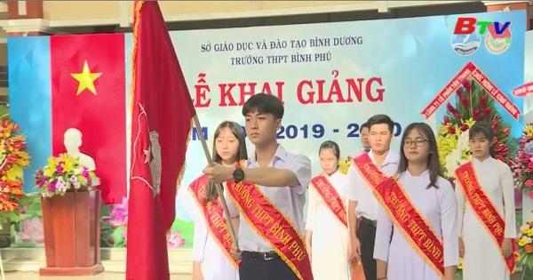 Lễ khai giảng năm học mới tại trường THPT Bình Phú