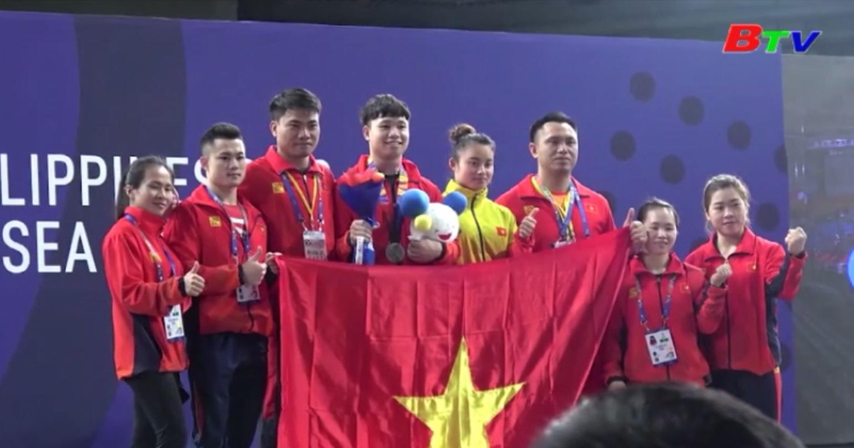 Đội tuyển cử tạ Việt Nam vượt chỉ tiêu tại SEA Games 30